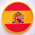 Spain National Flag Embroidered Iron Sew On Parche Spanish Cloth Badge Patch New