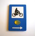 Camino de Santiago Scallop Shell and Arrow Bicycle Road Sign Marker Pilgrim Souvenir Fridge Magnet