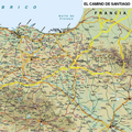 Camino De Santiago Way Of St. James Pilgrim Large Wall Planning / Tracking Map