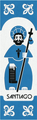 Camino de Santiago Pilgrim Souvenir Printed Fabric Bookmark (4 of 8)
