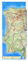 Camino Portuguese de Santiago 3D Relief Map