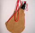 Spanish Bota de Vino 1 Liter Leather Bag Wineskin Wine Skin Made in Spain New