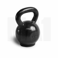 MA1 Black Cast Iron Kettlebell with rubber base 24kg