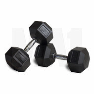 MA1 Rubber Hex Dumbbells - 20lbs (Pair)
