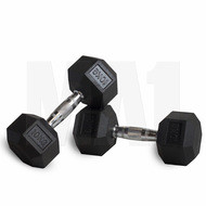 MA1 Rubber Hex Dumbbells - 35lbs (Pair)