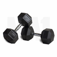 MA1 Rubber Hex Dumbbells - 90lbs (Pair)