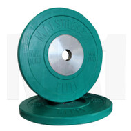 MA1 Elite Bumper Plates Colored 10kg Green (Pairs)