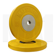 MA1 Elite Bumper Plates Colored 15kg Yellow (Pairs)