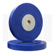 MA1 Elite Bumper Plates Colored 20kg Blue (Pairs)