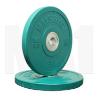 MA1 Pro Bumper Plates Colored 10kg Green (Pairs)