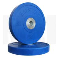 MA1 Pro Bumper Plates Colored 20kg Blue (Pairs)
