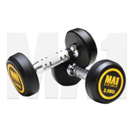 MA1 Commercial Rubber Dumbbells - 2.5kg (Pairs)