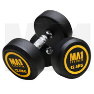 MA1 Commercial Rubber Dumbbells - 12.5kg (Pairs)