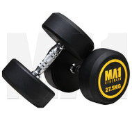 MA1 Commercial Rubber Dumbbells - 27.5kg (Pairs)