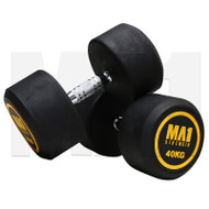 MA1 Commercial Rubber Dumbbells - 40kg (Pairs)