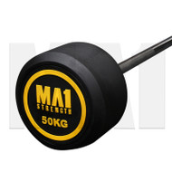 MA1 Fixed Rubber Barbell 50kg