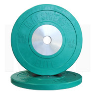 MA1 Elite Bumper Plate Colored 10kg Green (Pairs)