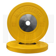 MA1 Elite Bumper Plate Colored 15kg Yellow (Pairs)