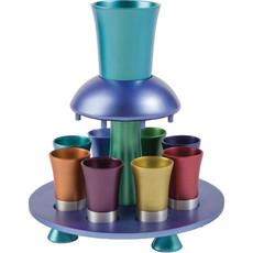 Multi-Color Anodized Aluminum Kiddush Fountain