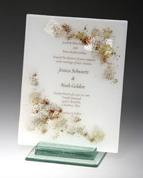 Beames Designs Fused Glass Bar/Bat MiItzvah Invitation