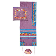 Purple Jerusalem Tallit Set
