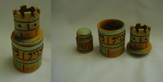 "Vichinsky Pottery ""Hidden"" Ceramic Havdalah Set"