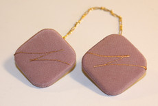 Dusty Pink Silk Tallis Clips