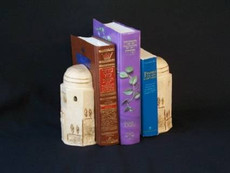 Jerusalem Motif in Ceramic Bookends