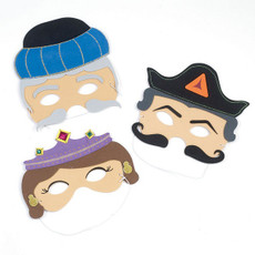 Set of 3 Purim Masks