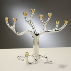 Tree of Life - Two Toned Menorah -  Large