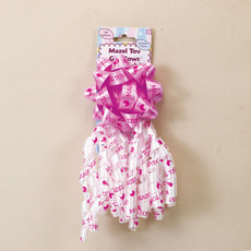 Baby Girl Bow Decoration with Mazel Tov