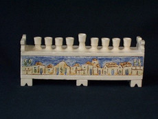 Vichinsky Pottery Ceramic Jerusalem Menorah