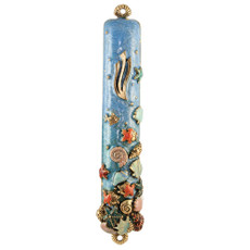 By the Sea, By the Beautiful Sea Enamel Mezuzah
