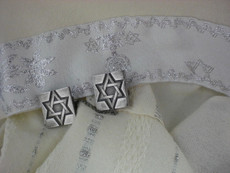 Pewter Star of David Tallit Clips