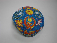 Medium Blue Bukharin Kippah