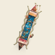 Gary Rosenthal Ani L'Dodi Break Glass Mezuzah - Small