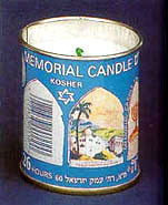 Yahrzeit Candle in Tin Holder