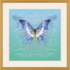 Caspi Cards and Art Butterfly Bat Mitzvah Framed Print