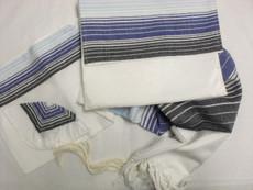 Gabrieli Silk Shades of Blue Tallit Set
