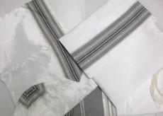 Gabrieli White Background Silk Talit Set 2