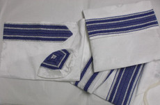 Gabrieli White Background Silk Talit Set 4