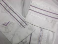Gabrieli Silk Tallit Set With White Background 8
