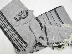 Gabrieli Wool Talit Set with Grey Background
