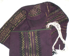 Gabrieli Wool Tallit Set with Purple Background