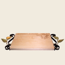 Tree Of Life Challah Board with Handles