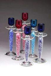 Fay Miller Shardz Break Glass Refraction Candlesticks