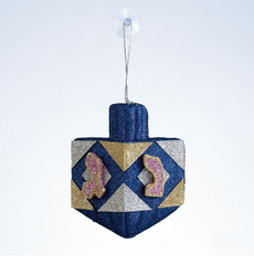 Glitter Dreidel Tree or Window Decoration