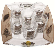 Lily Glass Art Tulip Liquor Set