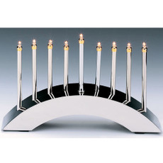Rainbow Arc Chrome Plated Electric Menorah