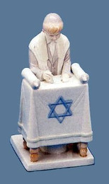 Bar Mitzvah Boy Reading Torah Figurine